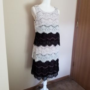 Dresses & Skirts - SL Fashion Layered Lace Sleeveless Dress Si